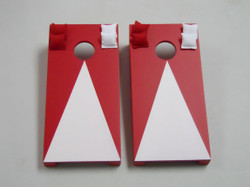 Red Pyramid Tabletop Cornhole Set with Bags