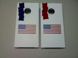 USA Flag Tabletop Cornhole Set with Bags