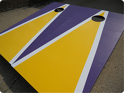 Baltimore Ravens Themed Cornhole Set with Bags