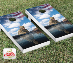 Bless Our Soldiers Cornhole Set with Bags