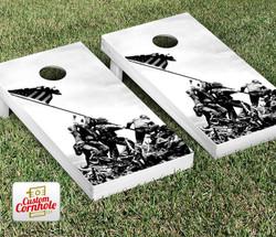 Iwo Jima Cornhole Set with Bags