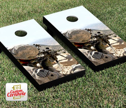 Soldier Aiming Cornhole Set with Bags