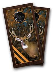 Framed Deer Cornhole Wraps