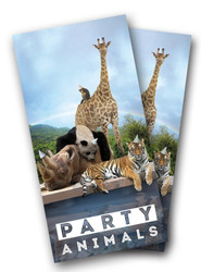 Party Animals Cornhole Wraps