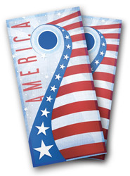 USA Shooting Star Cornhole Wraps