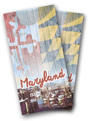 Vintage Maryland Cornhole Wraps