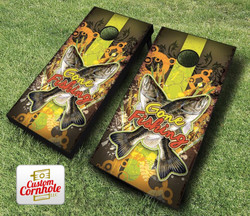 Gone Fishing Cornhole Set with Bags