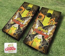 Gone Fishing Cornhole Set with Bags