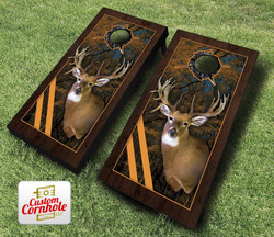 Framed Deer Cornhole Set with Bags