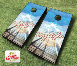 Beachbum Lifestyle Cornhole Set with Bags