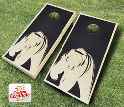 Bear Stained Cornhole Set with Bags