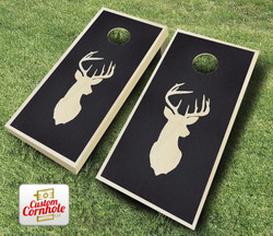 Buck Stained Cornhole Set with Bags