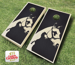Horse Stained Cornhole Set with Bags