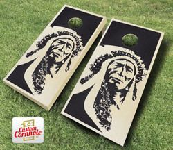 Native American Stained Cornhole Set with Bags