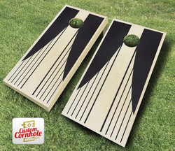 Swooping Stripes Stained Cornhole Set with Bags