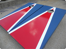 New England Themed Patriots Cornhole Set with Bags