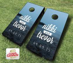 Moonforest Wedding Cornhole Set with Bags