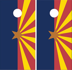Arizona Flag Cornhole Set with Bags