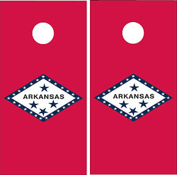 Arkansas Flag Cornhole Set with Bags