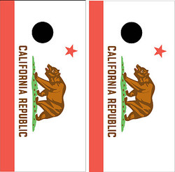 California Flag Cornhole Set with Bags