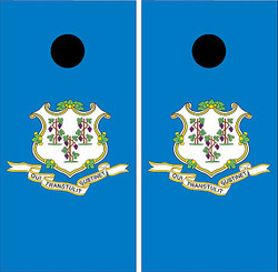 Connecticut Flag Cornhole Set with Bags