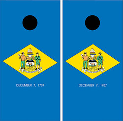 Delaware Flag Cornhole Set with Bags