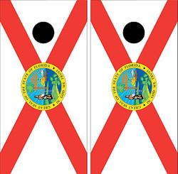 Florida Flag Cornhole Set with Bags