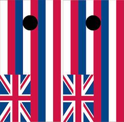 Hawaii Flag Cornhole Set with Bags
