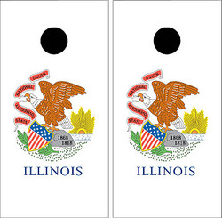 Illinois Flag Cornhole Set with Bags