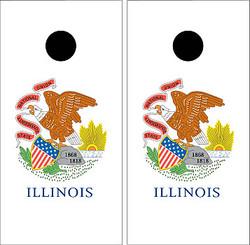 Illinois Flag Cornhole Set with Bags