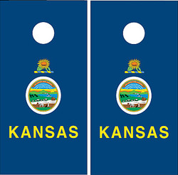 Kansas Flag Cornhole Set with Bags
