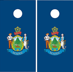 Maine Flag Cornhole Set with Bags