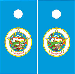 Minnesota Flag Cornhole Set with Bags