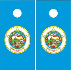 Minnesota Flag Cornhole Set with Bags