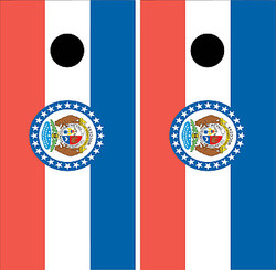 Missouri Flag Cornhole Set with Bags