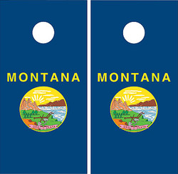 Montana Flag Cornhole Set with Bags