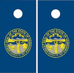 Nebraska Flag Cornhole Set with Bags
