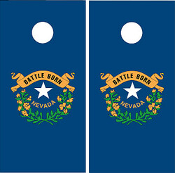 Nevada Flag Cornhole Set with Bags