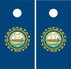 New Hampshire Flag Cornhole Set with Bags