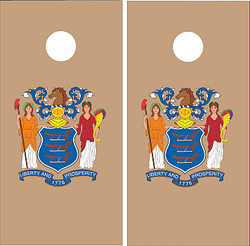 New Jersey Flag Cornhole Set with Bags