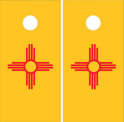 New Mexico Flag Cornhole Set with Bags