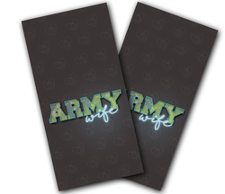 Army Wife Cornhole Wraps