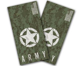 Army Digital Camo Cornhole Wraps