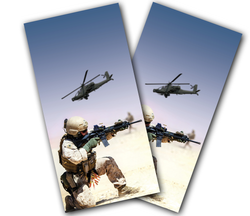 Desert Warfare Cornhole Wraps