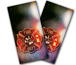 Fire Badge Cornhole Wraps