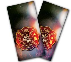 Fire Badge Cornhole Wraps