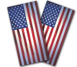 Wrinkled American Flag Cornhole Wraps