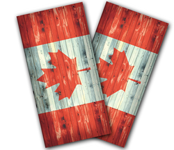 Canadian Flag Distressed Cornhole Wraps