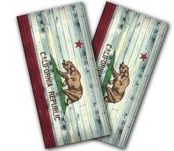 California Flag Distressed Cornhole Wraps