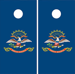 North Dakota Flag Cornhole Set with Bags